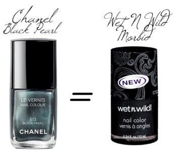 Chanel black pearl nail polish dupe