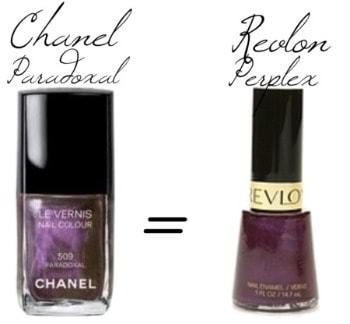Chanel paradoxal nail polish dupe