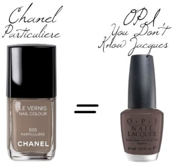 Chanel particuliere nail polish dupe