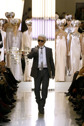 Karl Lagerfeld at Chanel Spring 2010
