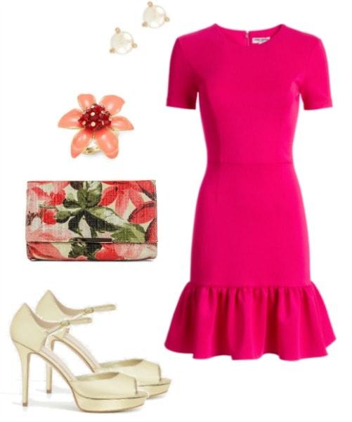 charlotte york pink dress set