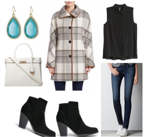 charlotte york plaid coat set