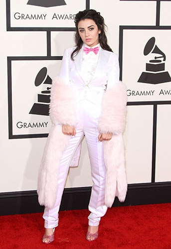 Charli XCX in Moschino at the 2015 Grammys