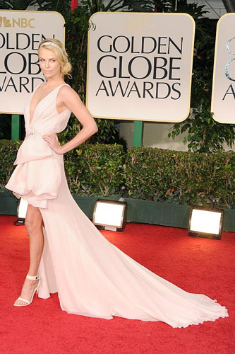 Charlize Theron in Dior at the 2012 Golden Globe Awards
