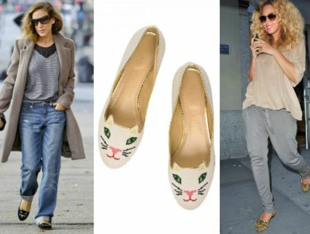 Charlotte olympia kitty flats worn by sarah jessica parker and beyonce