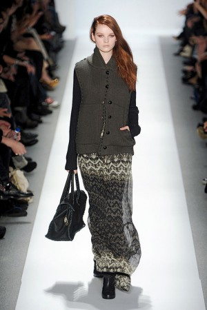 Charlotte Ronson Fall Maxi Skirt with Thick Sweater