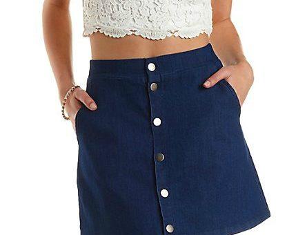 Charlotte Russe Denim Skirt