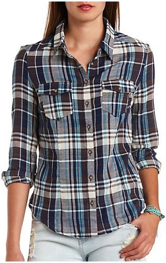 Charlotte Russe flannel shirt