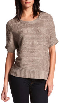 Charlotte Russe metallic cable knit sweater top