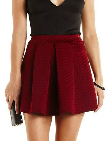 Charlotte Russe quilted skirt