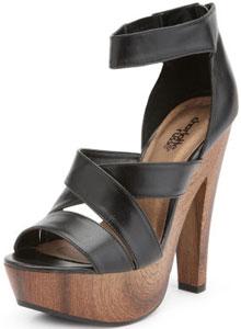 Charlotte Russe wooden platform heels