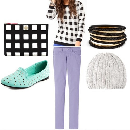 Checker print trend outfit