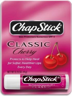 Best drugstore lip balm: Cherry chapstick