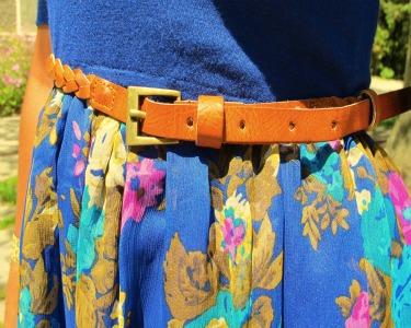 College fashionista Cherry's trendy braided belt