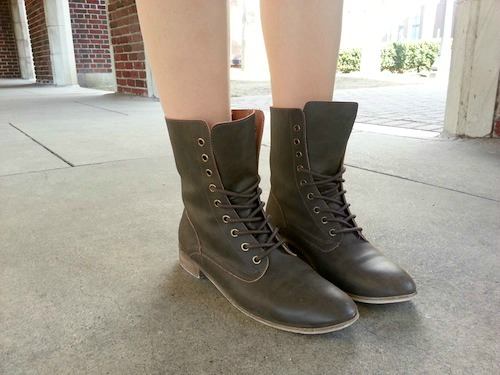 Chic combat boots at loyola new orleans