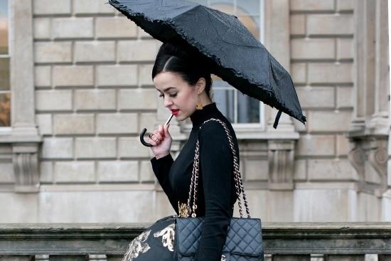 Chic rainy day look