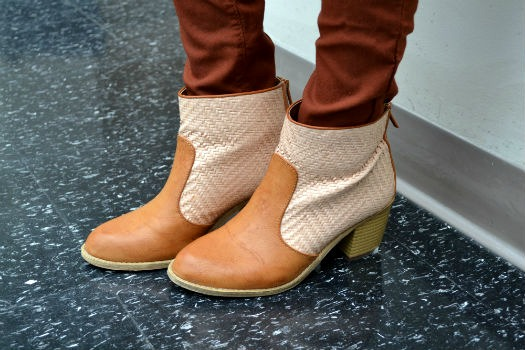 Chic woven booties
