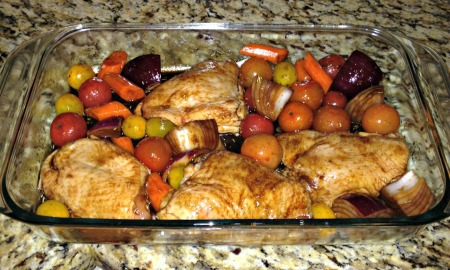 Chicken and veg pre roast