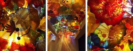 Chihuly persian ceiling triptych