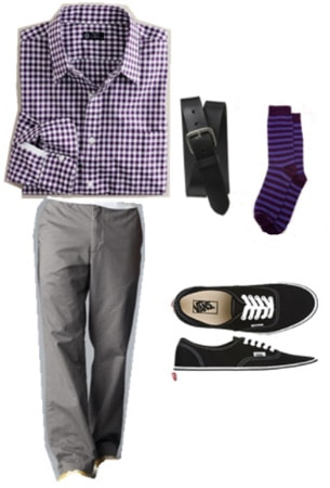 How to wear chinos - more daring outfit