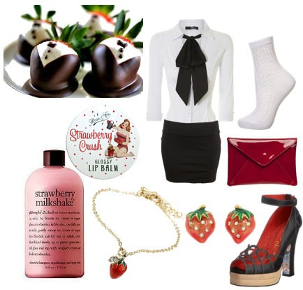 Chocolate-covered strawberries outfit