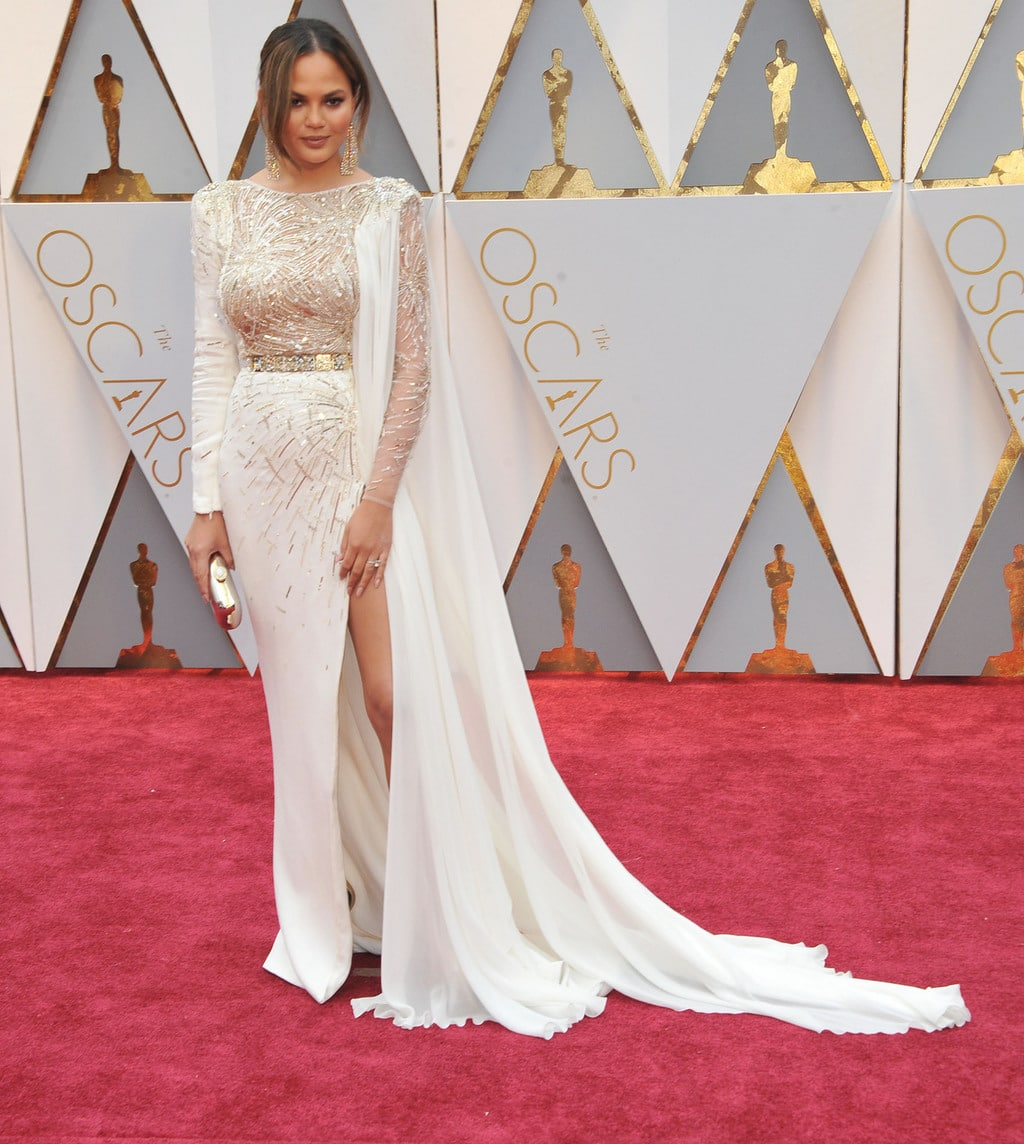 Chrissy Teigen in Zuhair Murad Couture at the 2017 Oscars