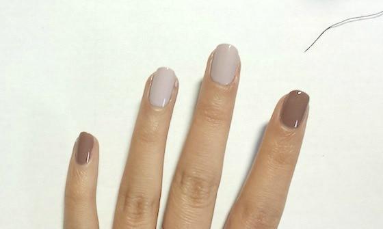 Christmas nail art tutorial step 1