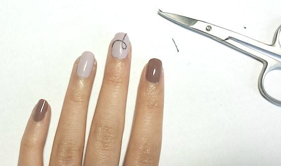 Christmas nail art tutorial step 2 part 2