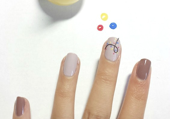Christmas nail art tutorial step 3 part 3