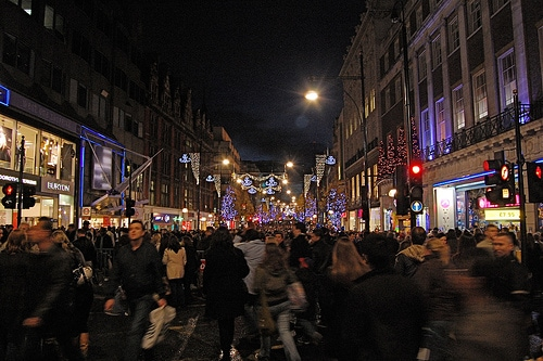 Oxford Street during Christmas