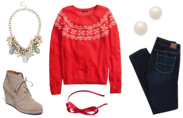 Christmas sweater outfit 1