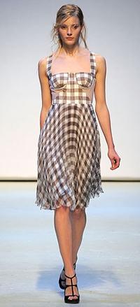 Christopher Kane Gingham Dress on the Runway