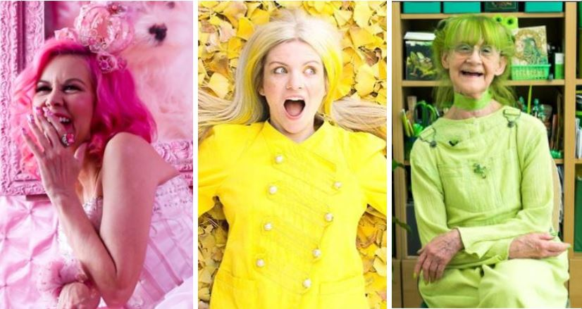 Kitten Kay Sera is The Pink Lady of West Hollywood, Ella London is A Dose of Sunshine in Los Angeles, and Elizabeth Sweetheart is The Jolly Green Lady in Brooklyn. Learn about why they chose their monochromatic lifestyles!