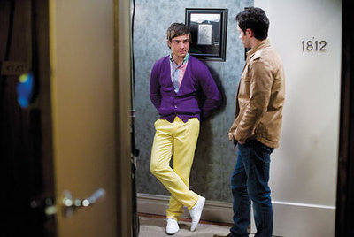 Chuck Bass from Gossip Girl in a colorful outfit