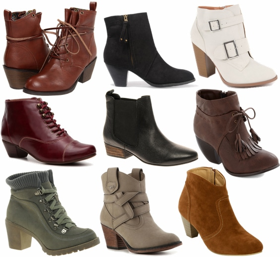 chunky ankle boots fall 2012 shoe trend