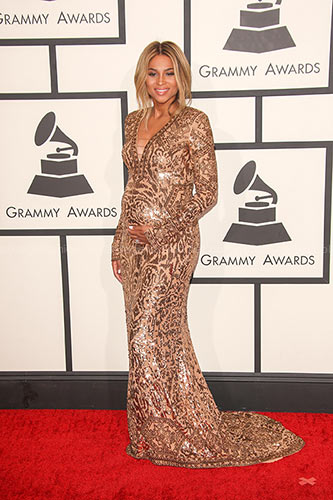 Ciara in Custom Emilio Pucci at the 2014 Grammy Awards