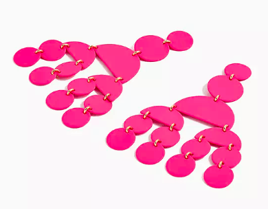 Photo of pink circle earrings.