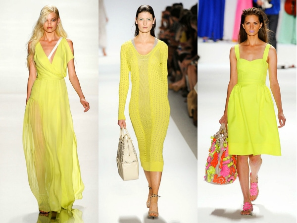 citron yellow on the spring 2012 runways