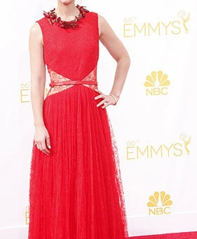 Claire Danes in Givenchy at the 2014 Emmy Awards