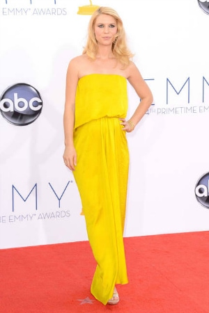 Claire Danes in Lanvin at the 2012 Emmy Awards