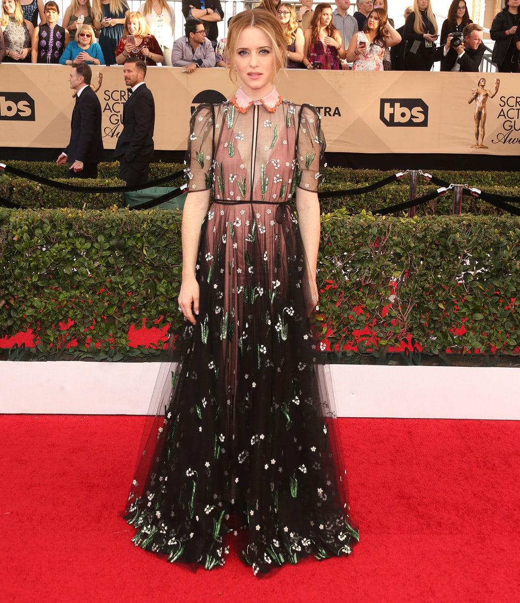 Claire Foy in Valentino at the 2017 SAG Awards