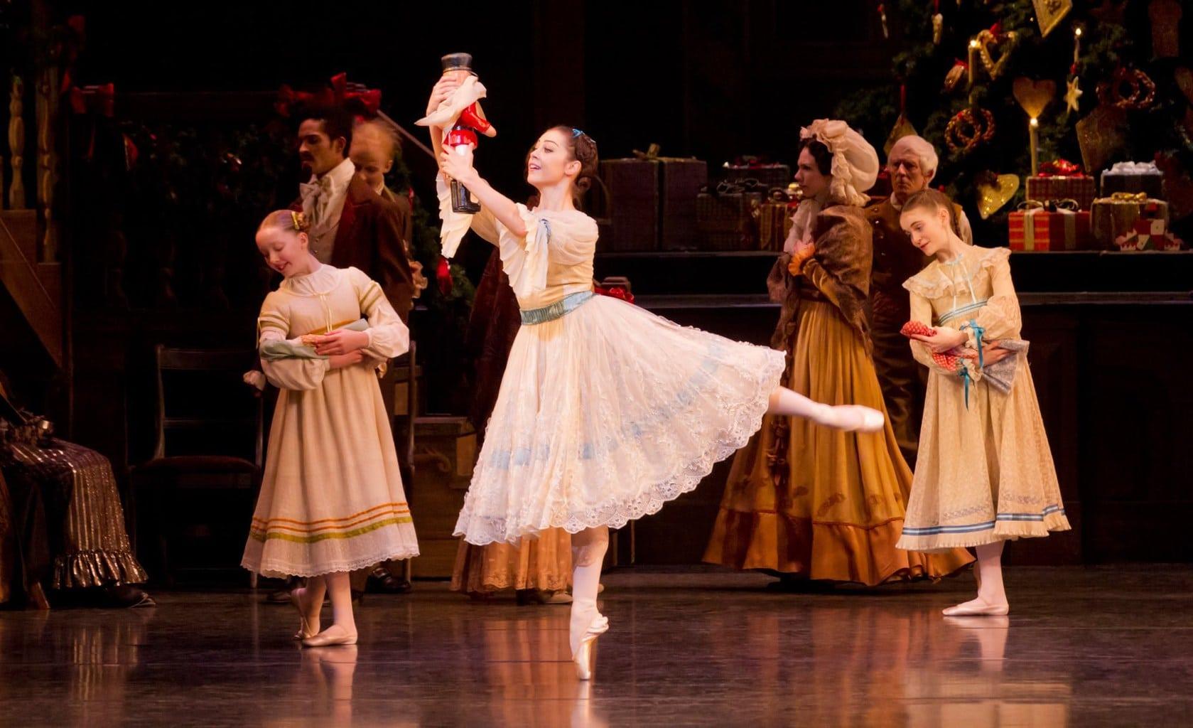 Clara in The Nutcracker ballet