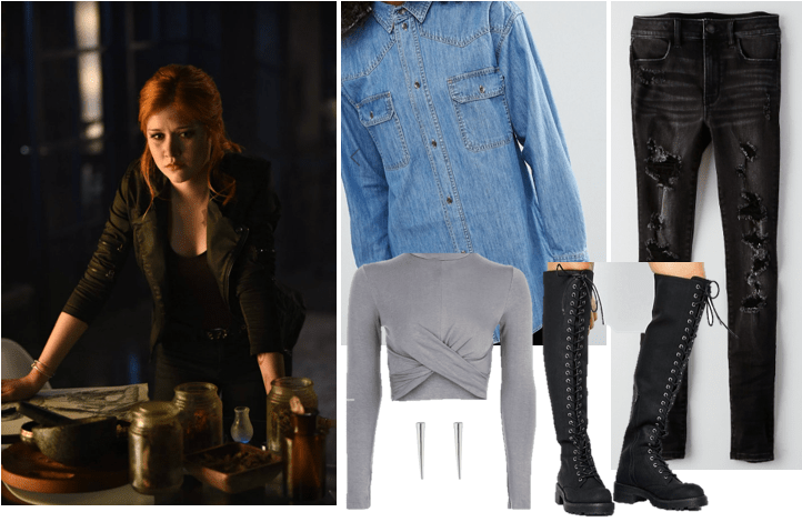 Outfit inspired by Clary Fray from Shadowhunters