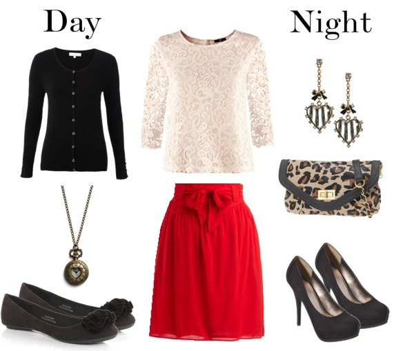 class to date night-outfit-skirt