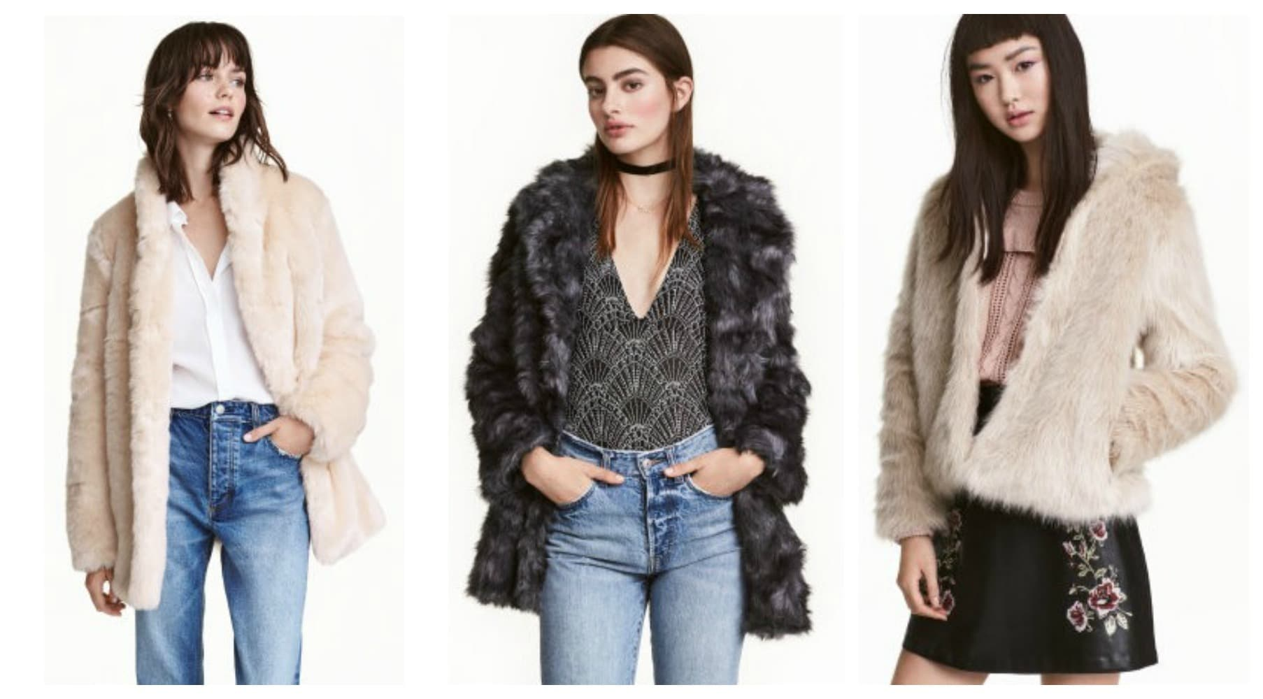 class to night out faux fur collage