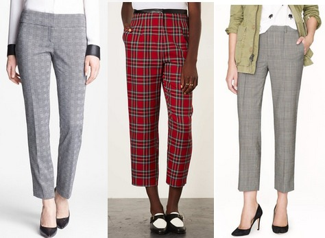 Class to night out plaid pants