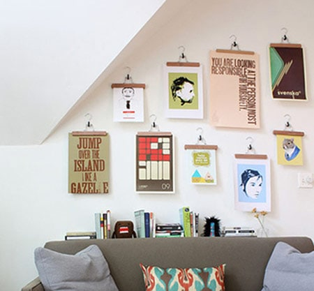 Clothes hangers as wall art