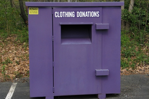 Clothing donations box