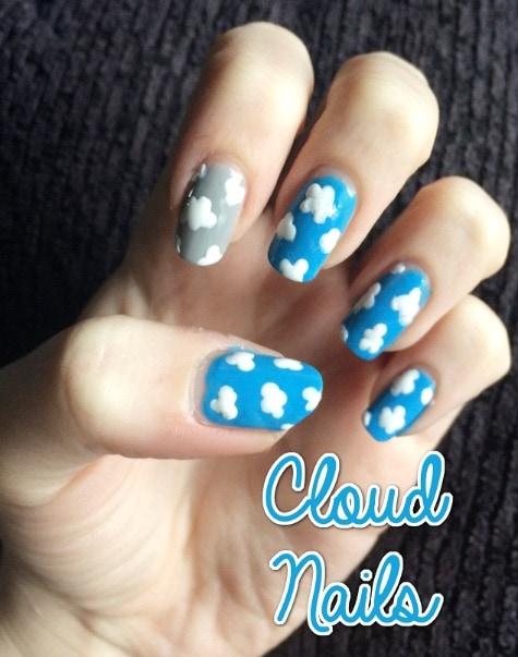 cloud nail art