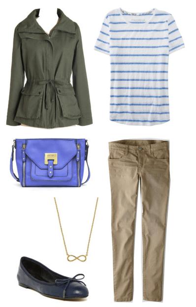 Blue Striped Shirt for Class